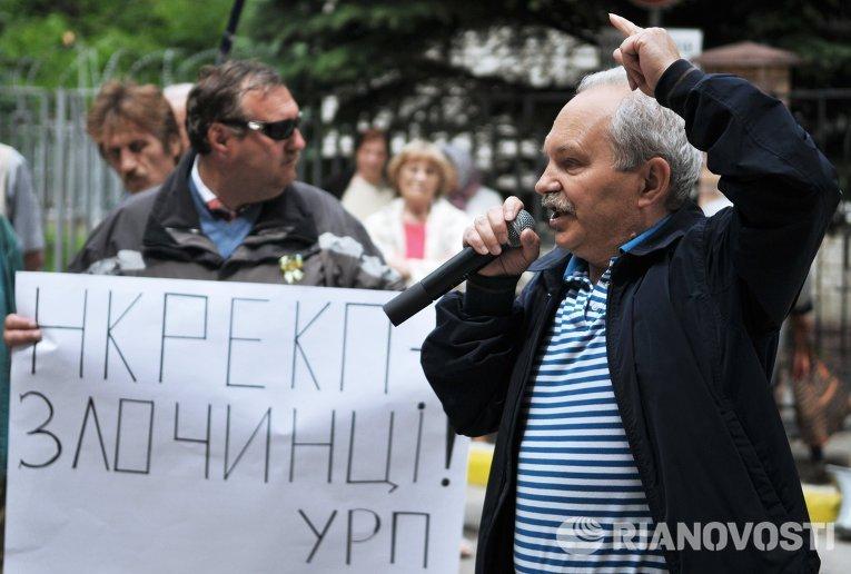 Пикет против повышения тарифов во Львове