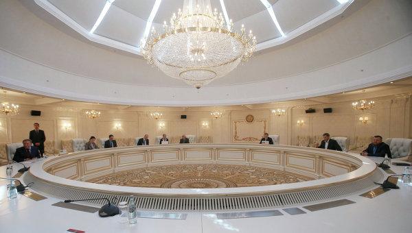 Встреча трехсторонней контактной группы в Минске. Архивное фото