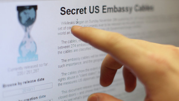 Страница сайта WikiLeaks