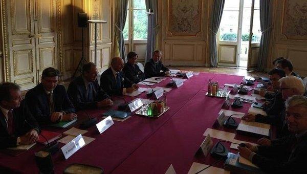 Встреча министров иностранных дел  стран нормандской четверки в Париже 23 июня 2015 г.
