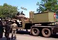 Грузовик, перевозивший боеприпасы, после взрыва под Полтавой. Видео