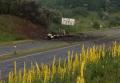 Военный грузовик после взрыва под Полтавой