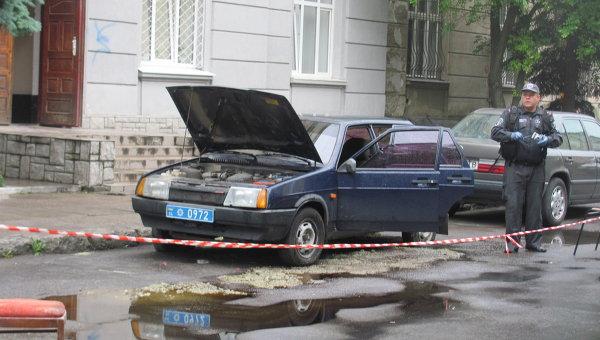 На месте взрыва во Львове