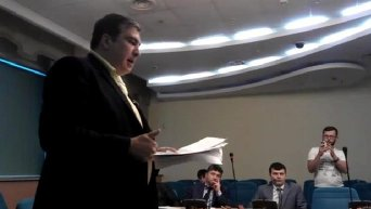 Саакашвили на заседании Госавиаслужбы