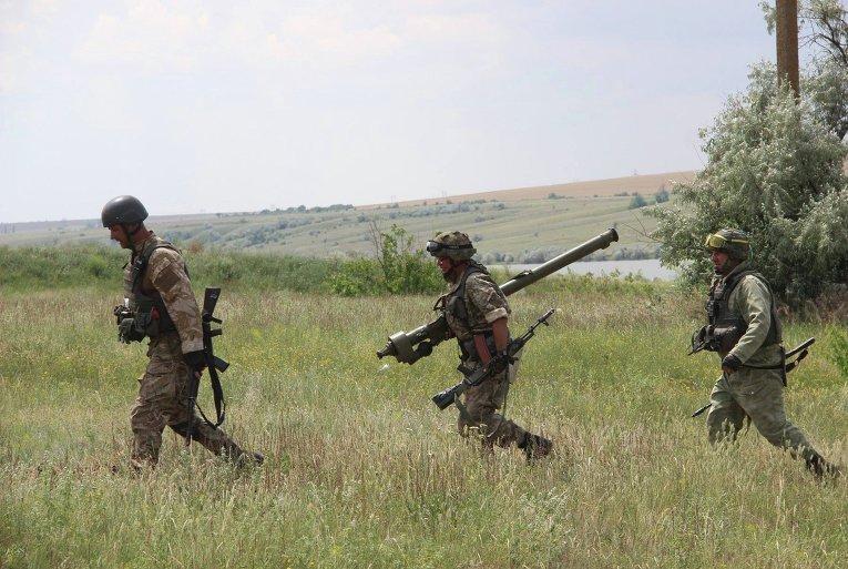 Боевые стрельбы 14-й отдельной механизированной бригады ОК Запад