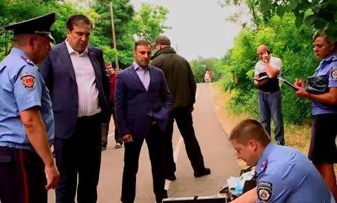 Глава ОДА прибыл на место убийства, почтить память командира. Видео