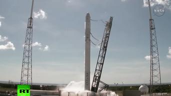 Американская ракета Falcon 9 взорвалась почти сразу после старта к МКС