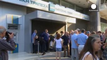 Все банки Греции закрылись до 7 июля. Видео