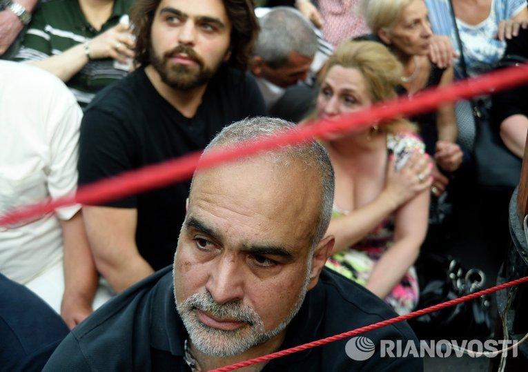 Акция протеста против повышения тарифов на услуги ЖКХ в Ереване
