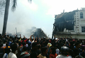 Военный самолет упал на отель в Индонезии