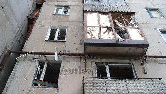 Последствия обстрелов Горловки