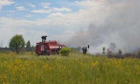 Тушение нового пожара в зоне отчуждения Чернобыльской АЭС