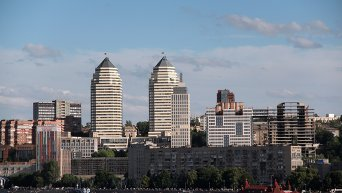 Вид на правобережную часть Днепропетровска