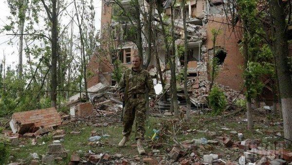 Бойцы полка Азов в Широкино