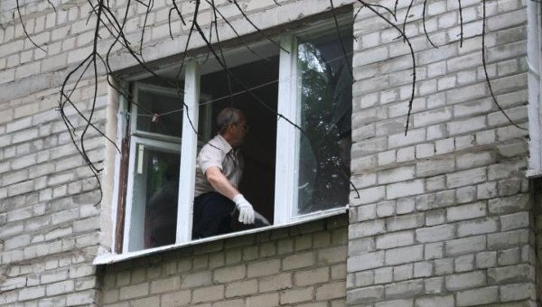 Взрыв в студгородке в Харькове