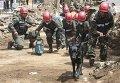 Военные Никарагуа принимают участие в ликвидации последствий землетрясения. Архивное фото