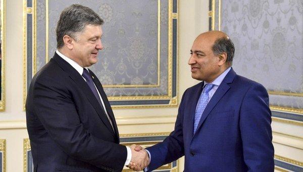 Встреча Петра Порошенко и президента ЕБРР Сума Чакрабарти
