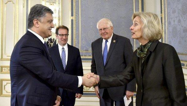 Встреча Петра Порошенко с конгрессменами США