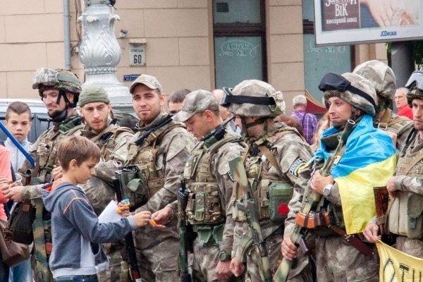 80 бойцов роты Східний корпус отправились в зону АТО