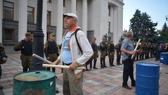Активисты Финансового майдана под Верховной Радой, 2 июля 2015 г.