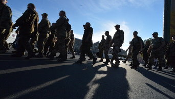 Марш добровольческих батальонов в Киеве