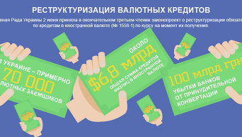 Реструктуризация валютных кредитов. Инфографика
