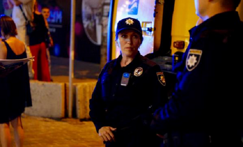 Полицейские патрульные в Киеве