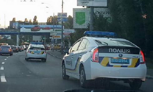 Полицейский патруль в Киеве