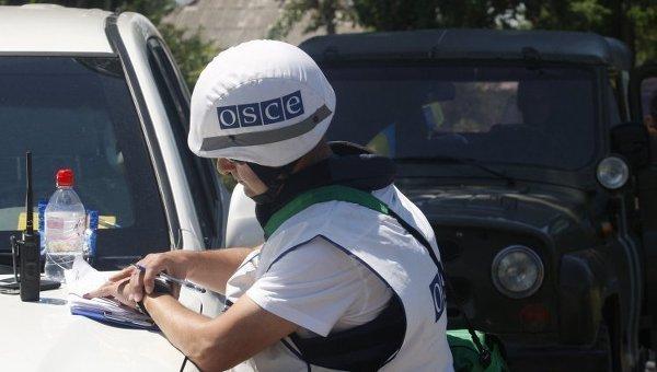 Представители ОБСЕ в ДОнбассе. Архивное фото