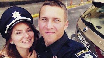Первый выпуск патрульных полицейских в Киеве