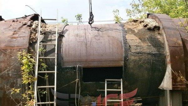 Ремонтные работы на канале, снабжающем водой Горловку
