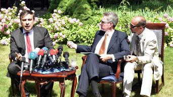 Михаил Саакашвили и посол США в Украине Джеффри Пайетт