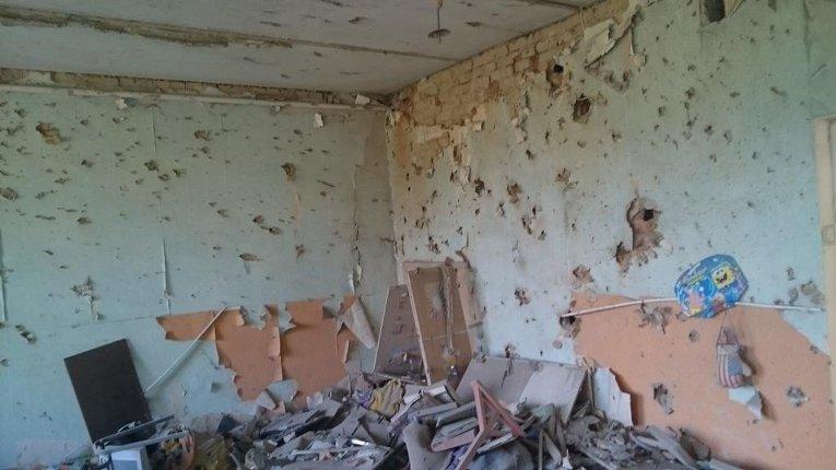 Обстрел детского сада в Докучаевске