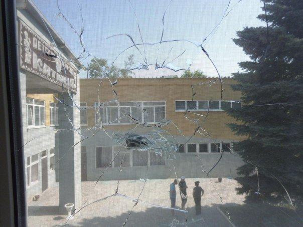 Обстрел детского сада в Тельманово