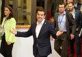 Премьер-министр Греции Алексис Ципрас прибыл на заседание Европарламента