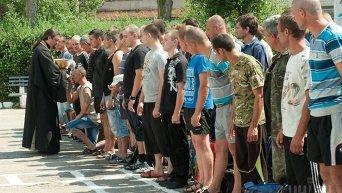 Отправка мобилизованных из Запорожья в учебный центр