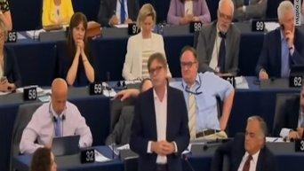 Премьер Греции Ципрас в Европарламенте. Видео