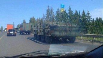В сторону Мукачево движется военная техника