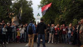 Митинг Правого сектора у АП в Киеве