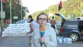 Блок-пост Правого сектора на Житомирской трассе под Киевом