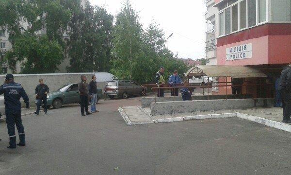 Первый взрыв во Львове на улице Плуговая