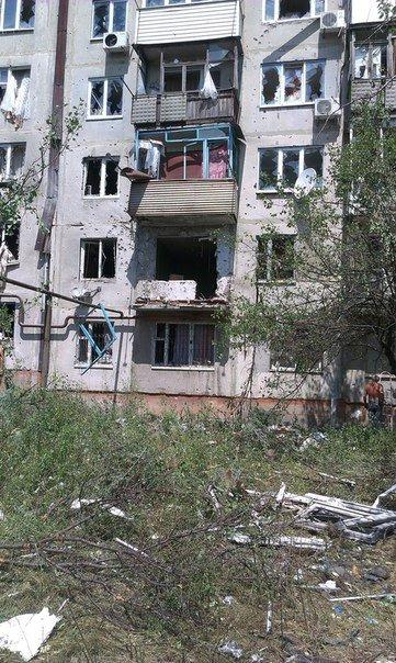 Последствия обстрела Красногоровки