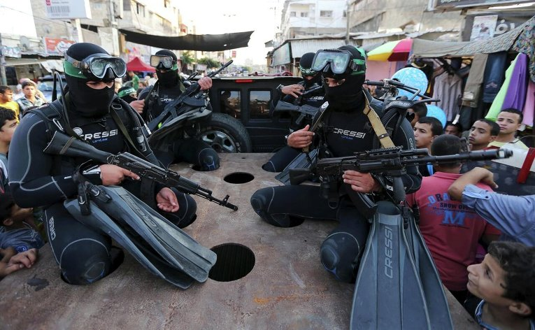 Палестинский морской спецназ аль-Кассам вооруженного крыла Хамас