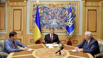 Давид Сакварелидзе, Петр порошенко и Виктор Шокин. Архивное фото