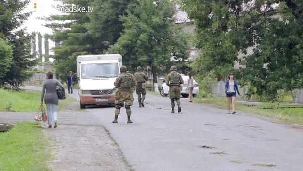 Спецоперация силовиков в Бобовище под Мукачево