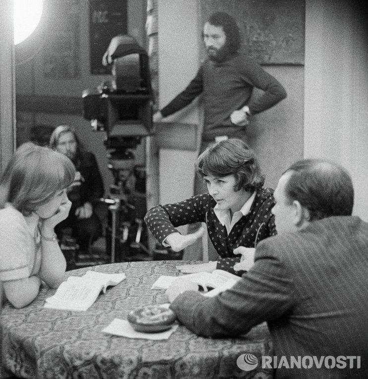 Ада Роговцева на съемках