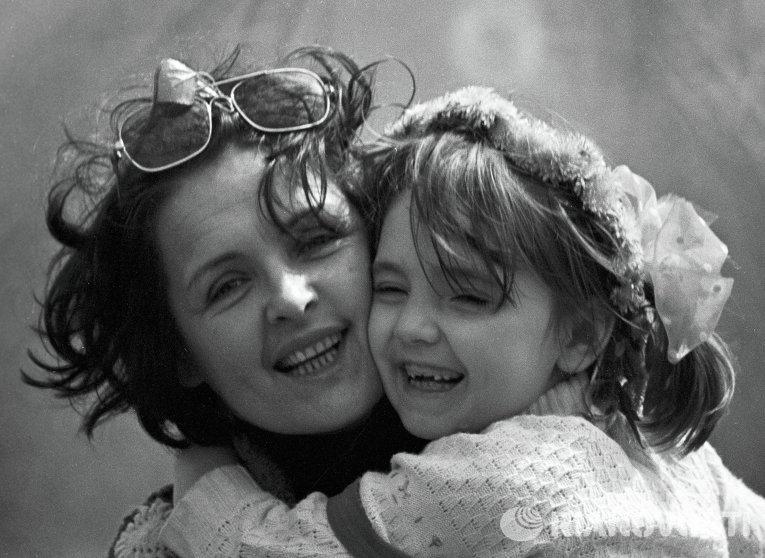 Ада Роговцева с дочерью Катей