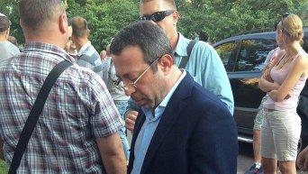 Геннадий Корбан на месте инцидента с авто в Чернигове