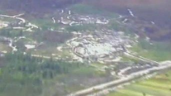 Поиски мест незаконной добычи янтаря с помощью авиации
