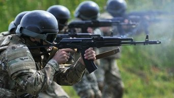 Учения пограничников во Львовской области